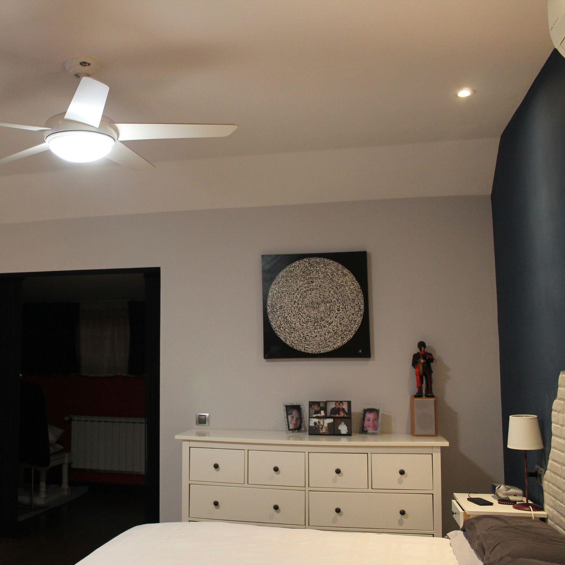 ventilador con luz dormitorio