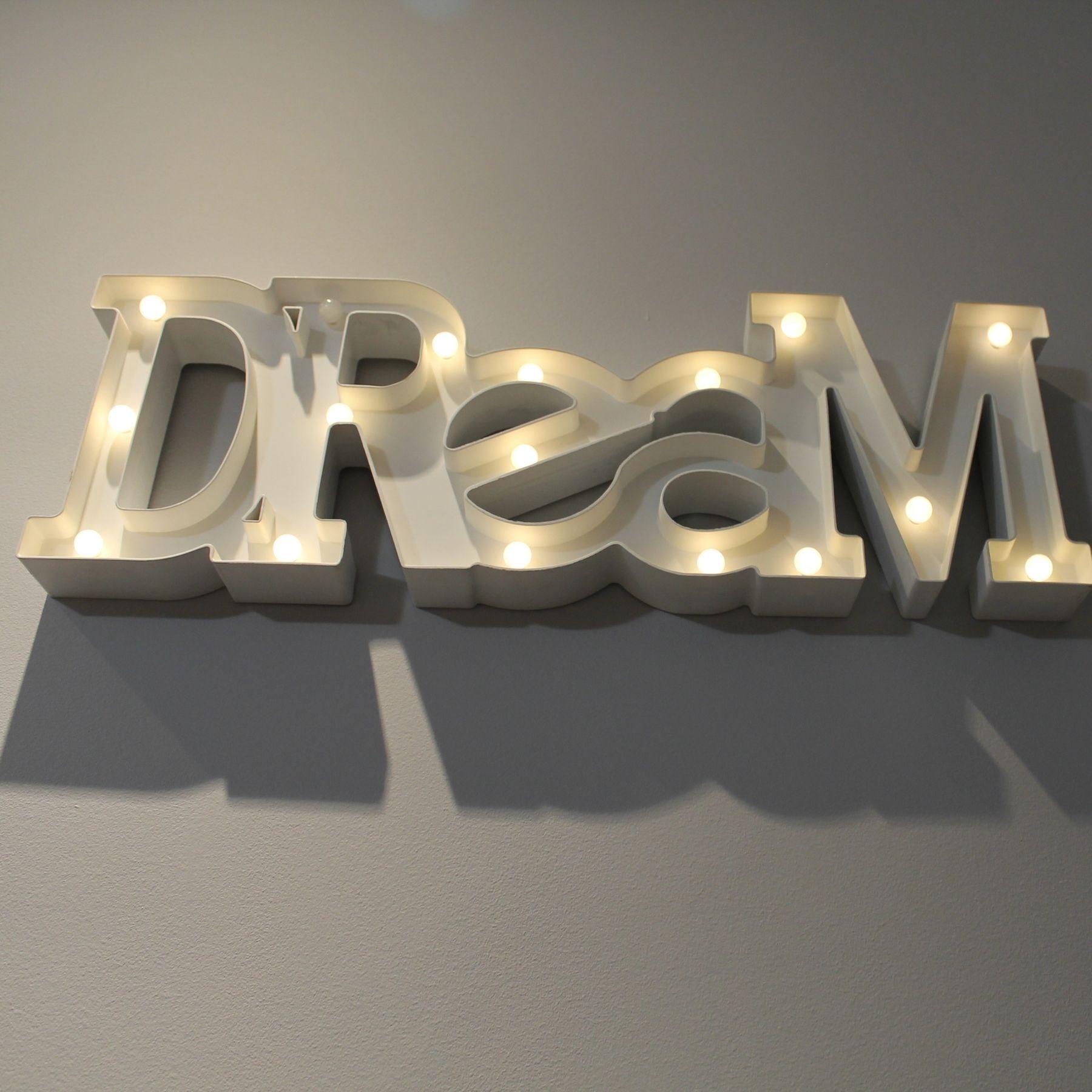 Dream luces letras