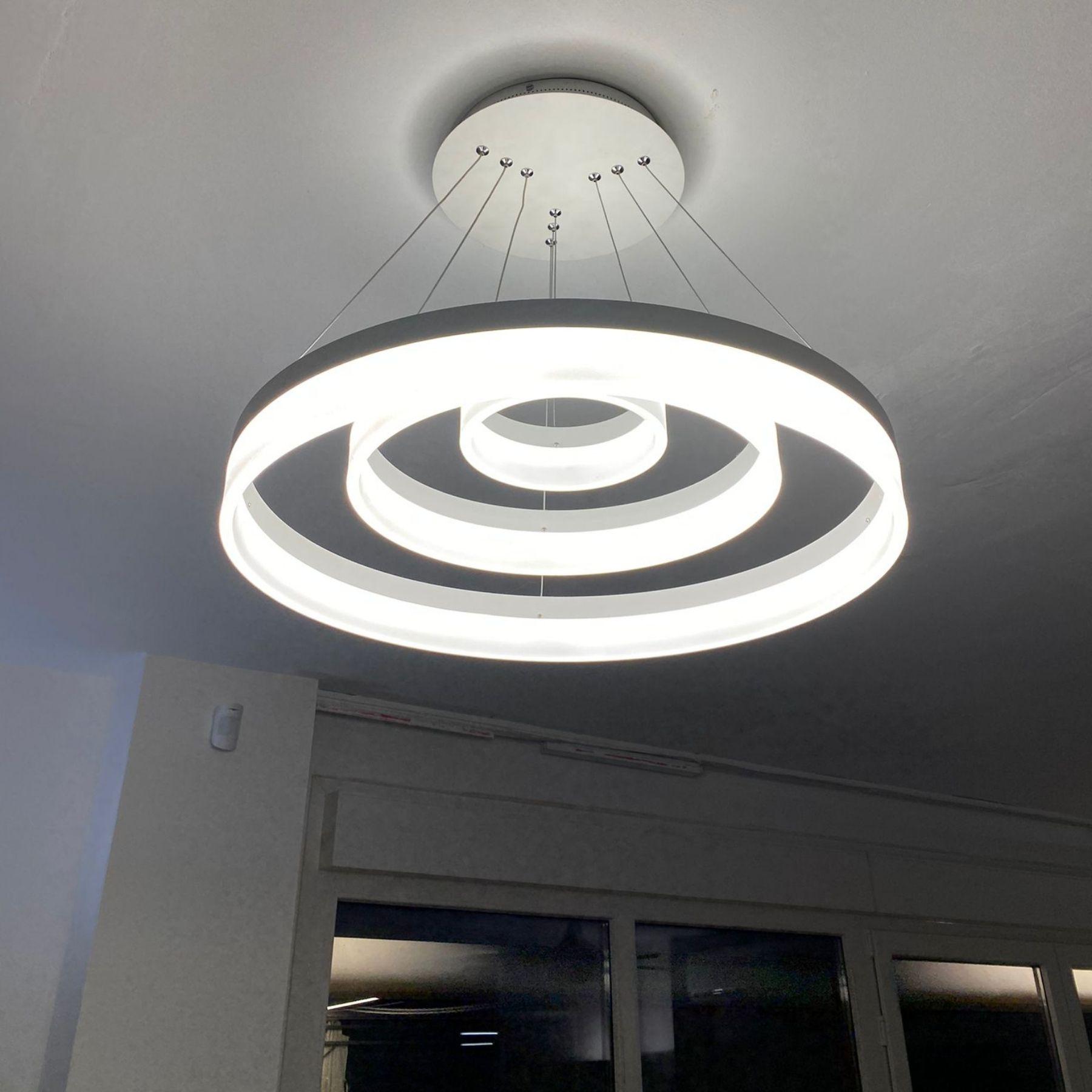luz led circular centro comedor