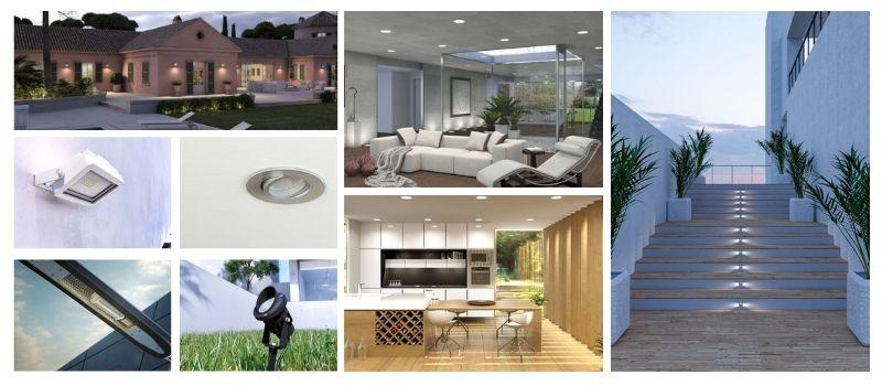 collage iluminación profesional vivienda