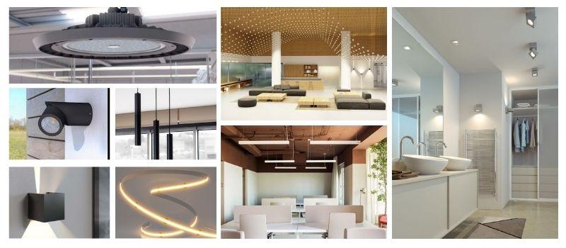 collage iluminación técnica vivienda