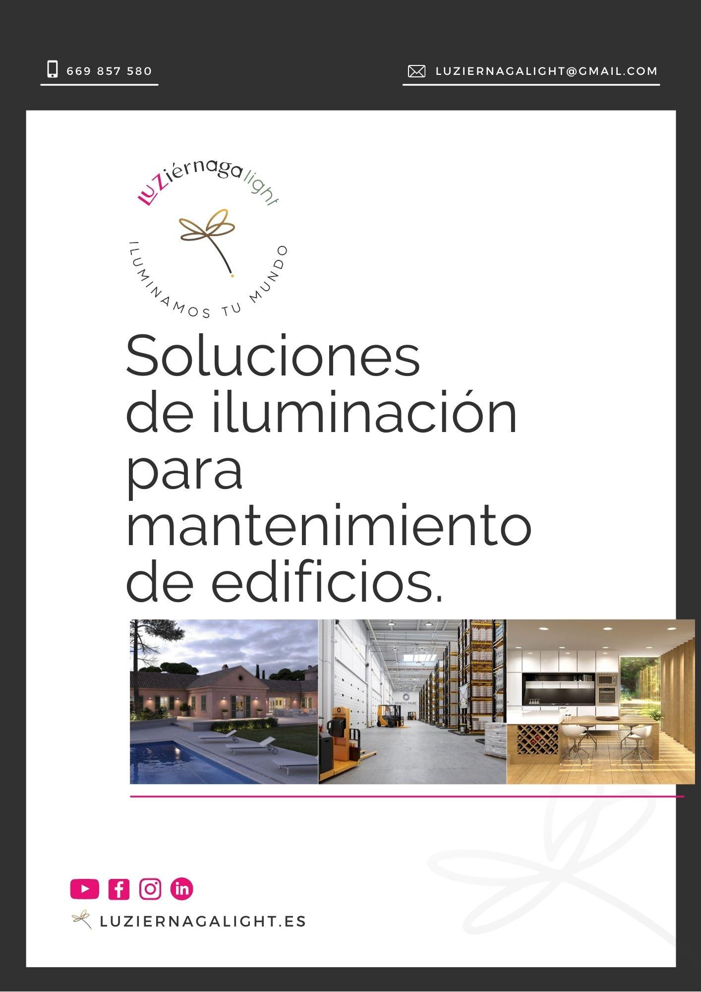 catalogo iluminación mantenimiento de edificios